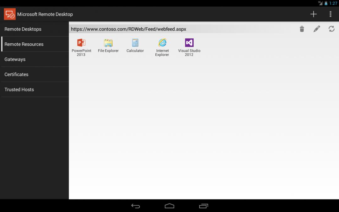 Microsoft Remote Desktop para Android y iOS